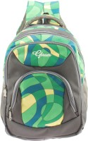 Gleam Mesh Padded School Waterproof School Bag (Green, Grey, 17 Inch)