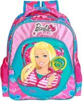 Barbie Waterproof Backpack (Blue, Pink, 14 Inch)