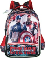 Captain America School Bag (Black, Red, 18 Inch)