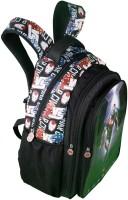 Iron Man Waterproof School Bag (Black, 19 Inch)