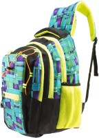 Gleam Mesh Padded School Waterproof School Bag (Green, Black, 17 Inch)