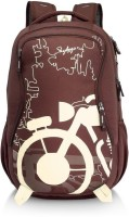 Skybags Waterproof Backpack (Brown, 3 L)