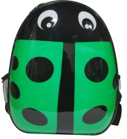 Gran Ladybug Back Pack Waterproof School Bag (Green, Black, 15 Inch)