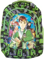 Majesty Ben 10 Printed Waterproof School Bag (Multicolor, 19 Inch)