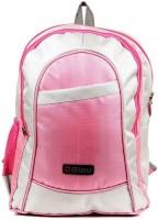 Bleu School Bag Waterproof Backpack (Pink, Grey, 17 Inches)