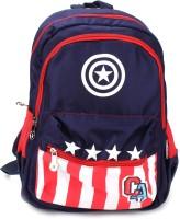 Captain America Waterproof School Bag (Black, Red, 19 Inch)