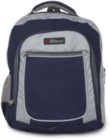 Bleu School Bag Waterproof Backpack (Blue, Grey, 17 Inch)