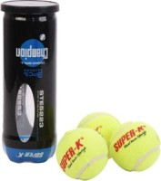 SUPER-K Champion Tennis Ball - Size: 4, Diameter: 6.6 Cm (Pack Of 3, Yellow)