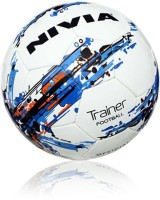 Nivia FB-280 Trainer Football - Size: 5, Diameter: 20 Cm (Pack Of 1, White)