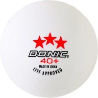 Donic 3 Star Ping Pong Ball -   Size: 3,  Diameter: 3.9 Cm (Pack Of 3, White)