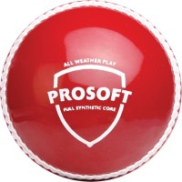 SG Prosoft Cricket Ball - Size: 5, Diameter: 2.5 Cm (Pack Of 1, Red)