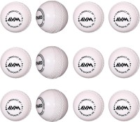 AVM Windball-19 Cricket Ball -   Size: Standard,  Diameter: 6.5 Cm (Pack Of 12, White)