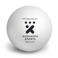 XUSHAOFA SPORTS Xushaofa 3 Star Poly Ping Pong Ball - Size: 4, Diameter: 4.01 Cm (Pack Of 6, White) Ping Pong Ball -   Size: 40+,  Diameter: 4 Cm (Pack Of 6, White)
