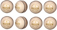 Priya Sports White Cric Cricket Ball -   Size: 5,  Diameter: 2.5 Cm (Pack Of 8, White)