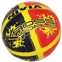 Nivia Kross World Football -   Size: 5,  Diameter: 22 Cm (Pack Of 1, Red, Black)