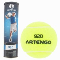 Artengo 820 X4 Tennis Ball -   Size: 6.5,  Diameter: 6.5 Cm (Pack Of 4, Yellow)