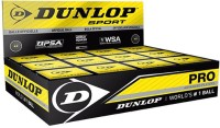 Dunlop Double Dot Pro Squash Ball -   Size: 4,  Diameter: 4.5 Cm (Pack Of 12, Black)