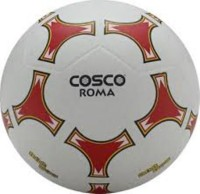 Cosco Roma Football -   Size: 5,  Diameter: 21 Cm (Pack Of 1, White)