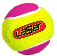 Laser Cricket Tennis Ball - Size: Standard, Diameter: 6.5 Cm (Pack Of 6, Multicolor)