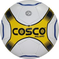 Cosco Milano Football -   Size: 4,  Diameter: 20 Cm (Pack Of 1, White, Yellow, Black)