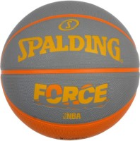 Spalding Force Basketball -   Size: 7,  Diameter: 30 Cm (Pack Of 1, Orange, Grey)