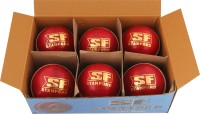 SF Yorker Cricket Ball -   Size: 5.5,  Diameter: 4.5 Cm (Pack Of 6, Red)