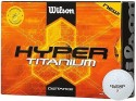 Wilson Hyper Titanium Distance Golf Ball -   Size: Standard,  Diameter: 4 Cm - Pack Of 12, White