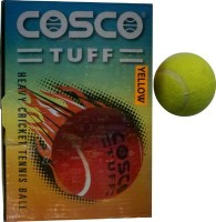 Cosco Cosco Tuff Cricket Tennis Ball -   Size: 5,  Diameter: 2.5 Cm (Pack Of 1, Yellow)