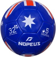 NOPEUS BLUE RED WHITE FLAG SYNTHETIC Football -   Size: 5,  Diameter: 20 Cm (Pack Of 1, Blue, Red, White)