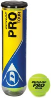 Dunlop Pro Tour Tennis Ball - Size: 0, Diameter: 2.5 Cm (Pack Of 3, Yellow)