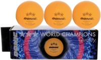 Donic 3 Star Bowling Ball -   Size: NA,  Diameter: 4 Cm (Pack Of 3, Orange)