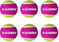 Kaizen Gold Light Weight Cricket Ball -   Size: 9.6,  Diameter: 7.3 Cm (Pack Of 6, Multicolor)