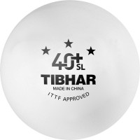Tibhar 40+ SL Seamless Poly Ping Pong Ball -   Size: 4,  Diameter: 4.01 Cm (Pack Of 3, White)