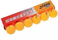Dhs 3 Star Table Tennis Balls Ping Pong Ball -   Size: 40MM,  Diameter: 4 Cm (Pack Of 6, Orange)