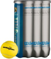 Wilson Australian Open Tennis Ball -   Size: 1,  Diameter: 2.5 Cm (Pack Of 12, Yellow)