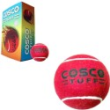 Cosco Tuff Cricket Ball -   Size: 5,  Diameter: 2.5 Cm - Pack Of 6, Red