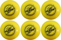 FLASH WIND BALL YELLOW Cricket Ball -   Size: STANDARD,  Diameter: 7.3 Cm (Pack Of 6, Yellow)