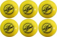 FLASH WIND BALL YELLOW Cricket Ball -   Size: STANDARD,  Diameter: 7.3 Cm (Pack Of 6, Yellow)