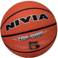Nivia Top Grip (size 5) Basketball -   Size: 5,  Diameter: 22 Cm (Pack Of 1, Maroon)