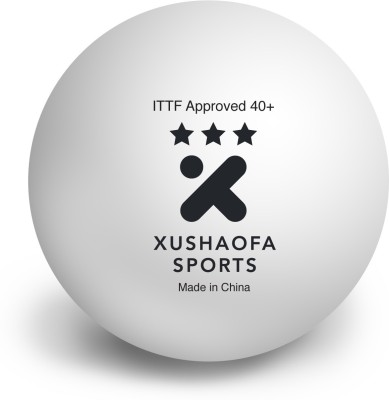 Xushaofa Sports Seamless Poly Plastic 3 Star Table Tennis Balls 40+ Ping Pong Ball -   Size: 40+,  Diameter: 4 Cm (Pack Of 48, White)