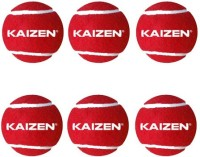 Kaizen Gold Heavy Weight Cricket Ball -   Size: 9.6,  Diameter: 7.3 Cm (Pack Of 6, Red)