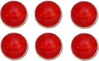 VSM Two Piece Leather Super Cricket Ball -   Size: 3,  Diameter: 2.5 Cm (Pack Of 6, Red)