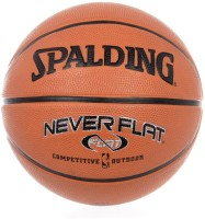 Spalding NeverFlat Basketball -   Size: 7,  Diameter: 30 Cm (Pack Of 1, Maroon)