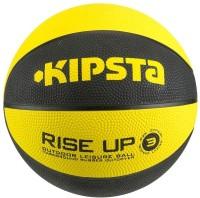 Kipsta Rise Up S3 Basketball -   Size: 3,  Diameter: 7.6 Cm (Pack Of 1, Yellow, Black)