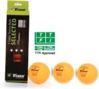 Vixen STAR PREMIUM Tennis Ball -   Size: 2,  Diameter: 2.5 Cm (Pack Of 4, Yellow)