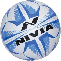 Nivia Curve Volleyball -   Size: 4,  Diameter: 20.5 Cm (Pack Of 1, White, Blue)