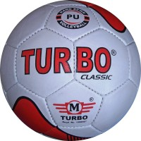 TURBO CLASSIC Volleyball -   Size: 4,  Diameter: 68.5 Cm (Pack Of 1, White, Red)