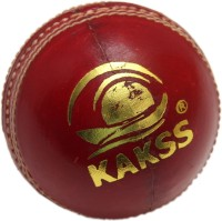 Kakss Turf Cricket Ball -   Size: Full Size,  Diameter: 21 Cm (Pack Of 1, Red)