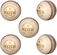 Priya Sports White Cric Cricket Ball -   Size: 5,  Diameter: 2.5 Cm (Pack Of 5, White)