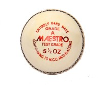 CW Maestro Leather Cricket Ball -   Size: Full Size,  Diameter: 22 Cm (Pack Of 3, White)